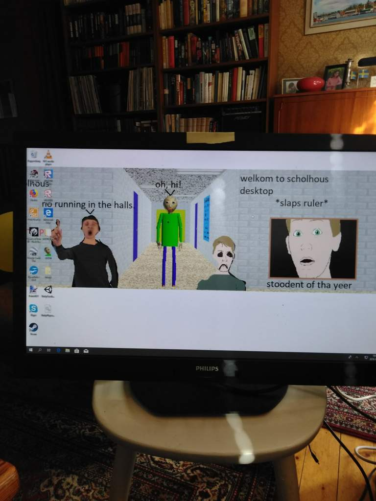 This is my Baldi's Basics desktop background bois | Baldi's