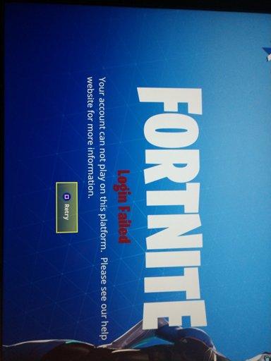 fortnite won t work - login failed fortnite pc