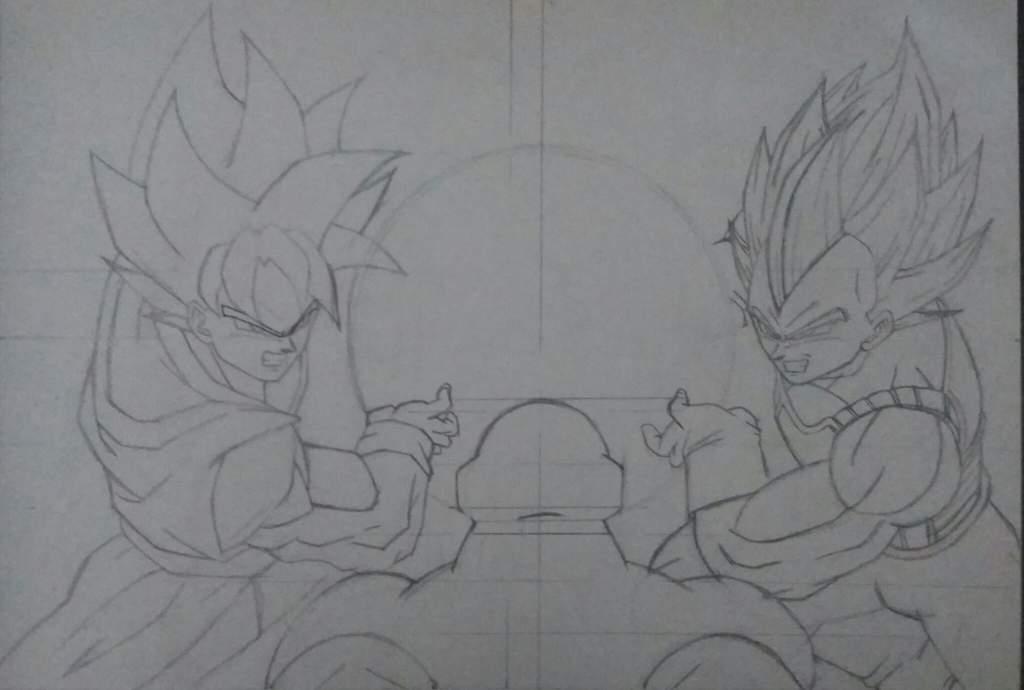 Goku Vs Jiren Para Colorear