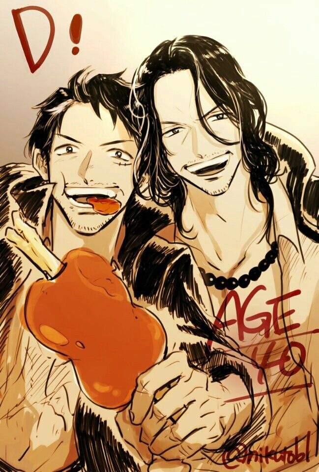 Ace & Luffy age 40 ️ | One Piece Amino