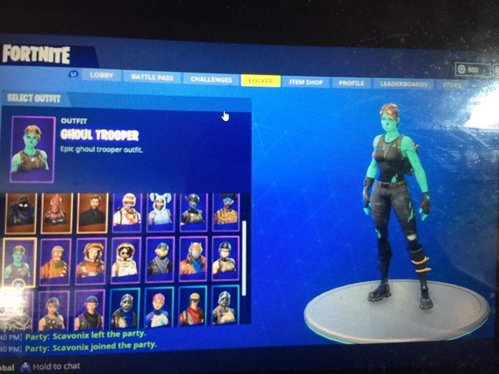 Does Anyone Want T Fortnite Trade I Have The Ghoul Trooper And Black