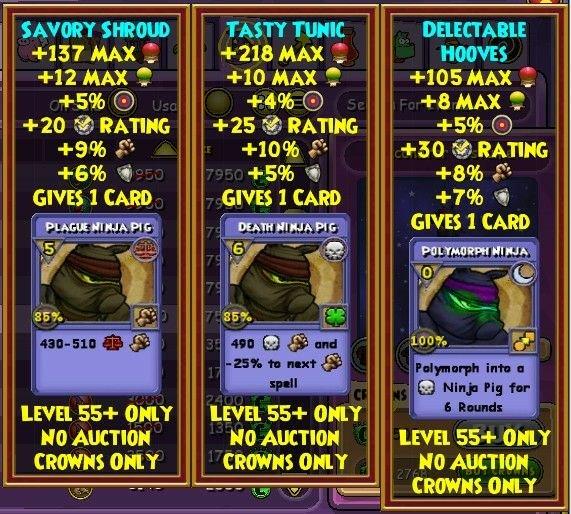 Non-Crowns Alternatives for Energy Gear | Wizard101 Amino
