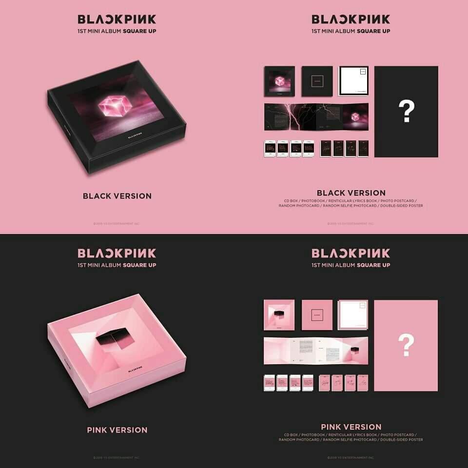 Square Up Mini Album Details Kim Jennie Amino
