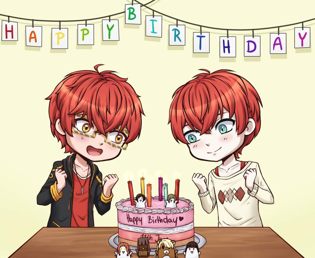 Happy Birthday Tomato Twins Mystic Messenger Amino