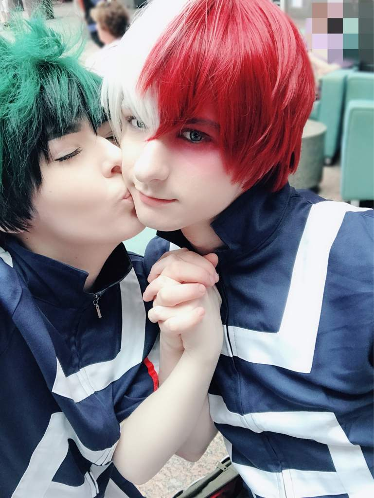 Todoroki x Midoriya (Tododeku) cosplay (with purikura ...