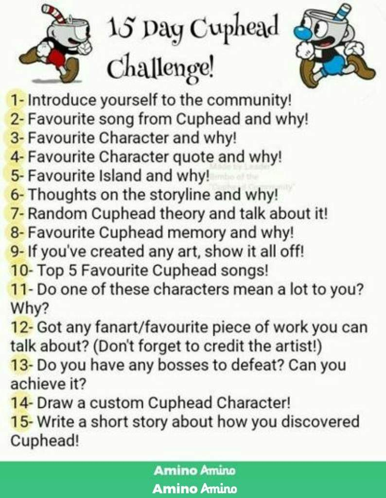 Day 2- 15 day challenge | Cuphead Official™ Amino