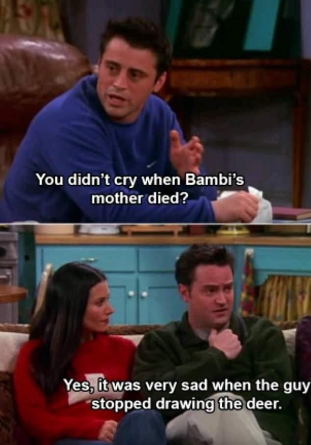 friends memes toddler friend chandler bambi