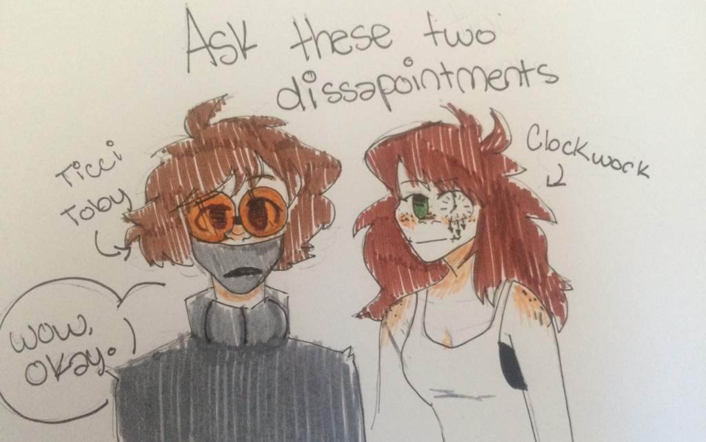 Ask/Q&A Ticci Toby and Clockwork | MrCreepyPasta Amino