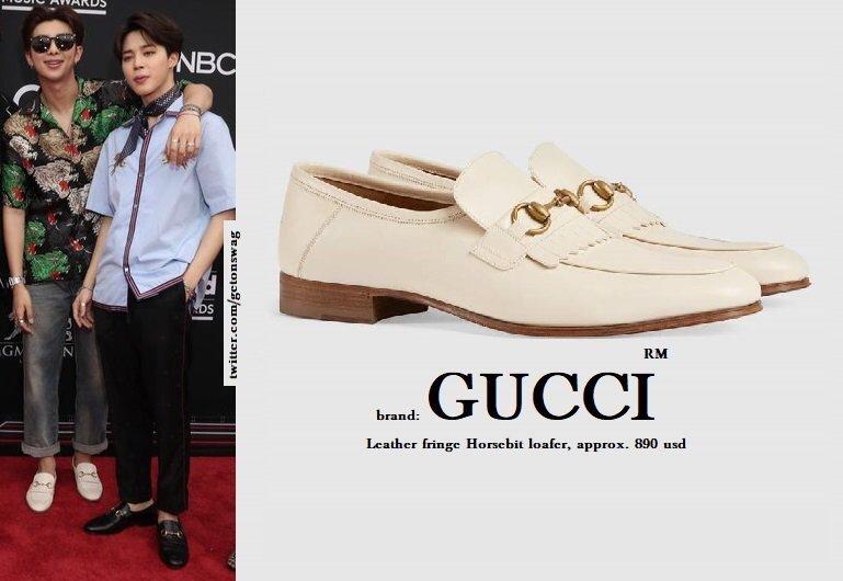 5b5145b8fa5 GUCCI - Leather fringe Horsebit loafer