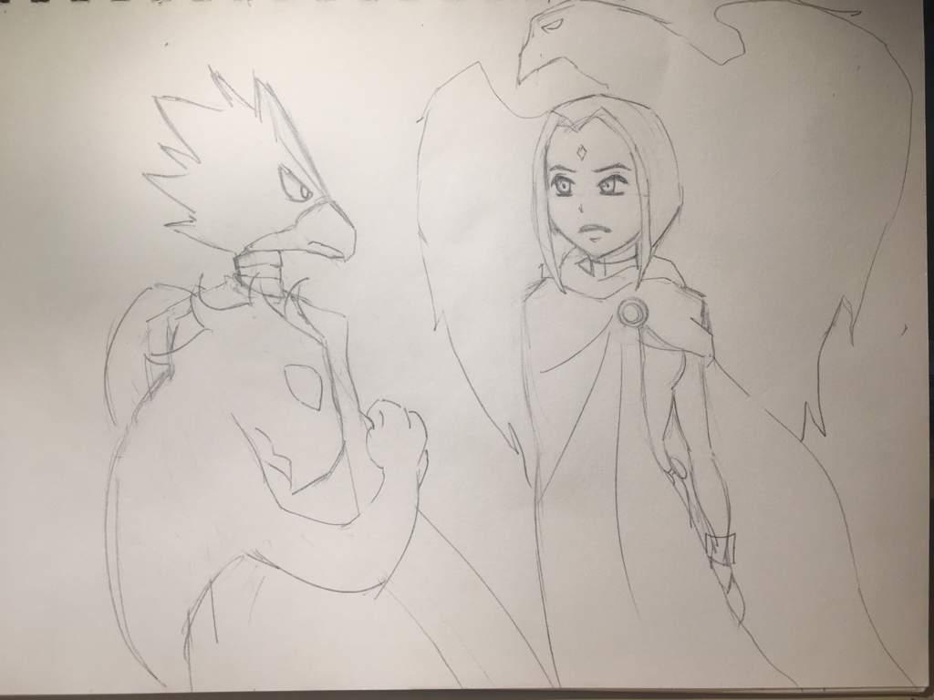 Boku no Titan Academia: Raven x Fumikage | Teen Titans Amino