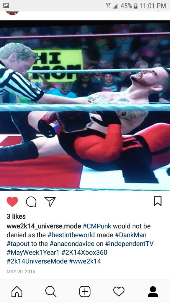 WWE 2k14- Highlights from my old Instagram (Part 2