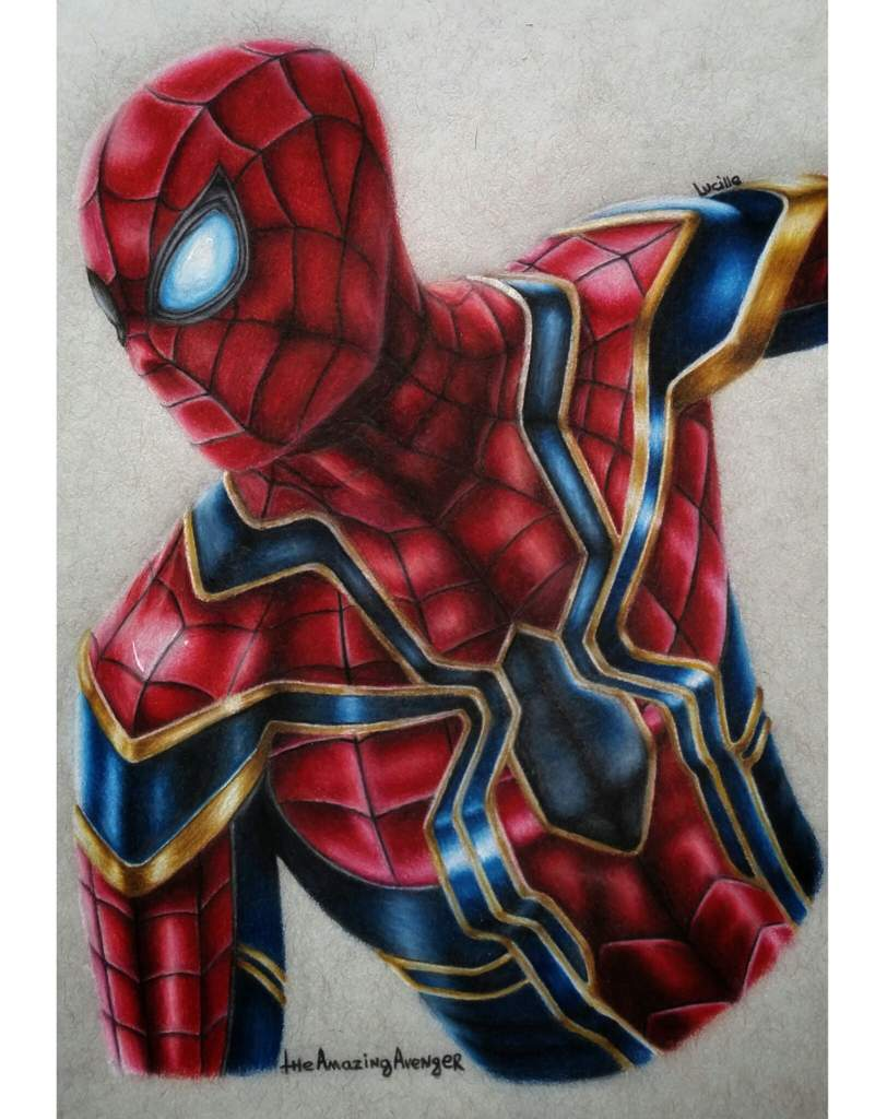 Marvel iron spider drawing art spider man