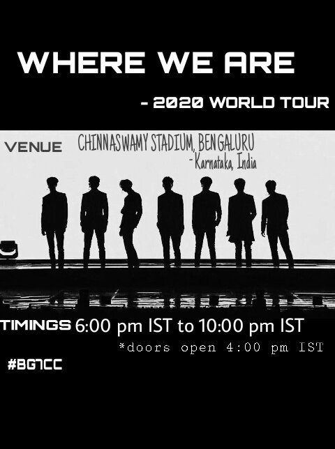Got7 Us Tour 2020 WHERE WE ARE   2020 WORLD TOUR | GOT7 Amino