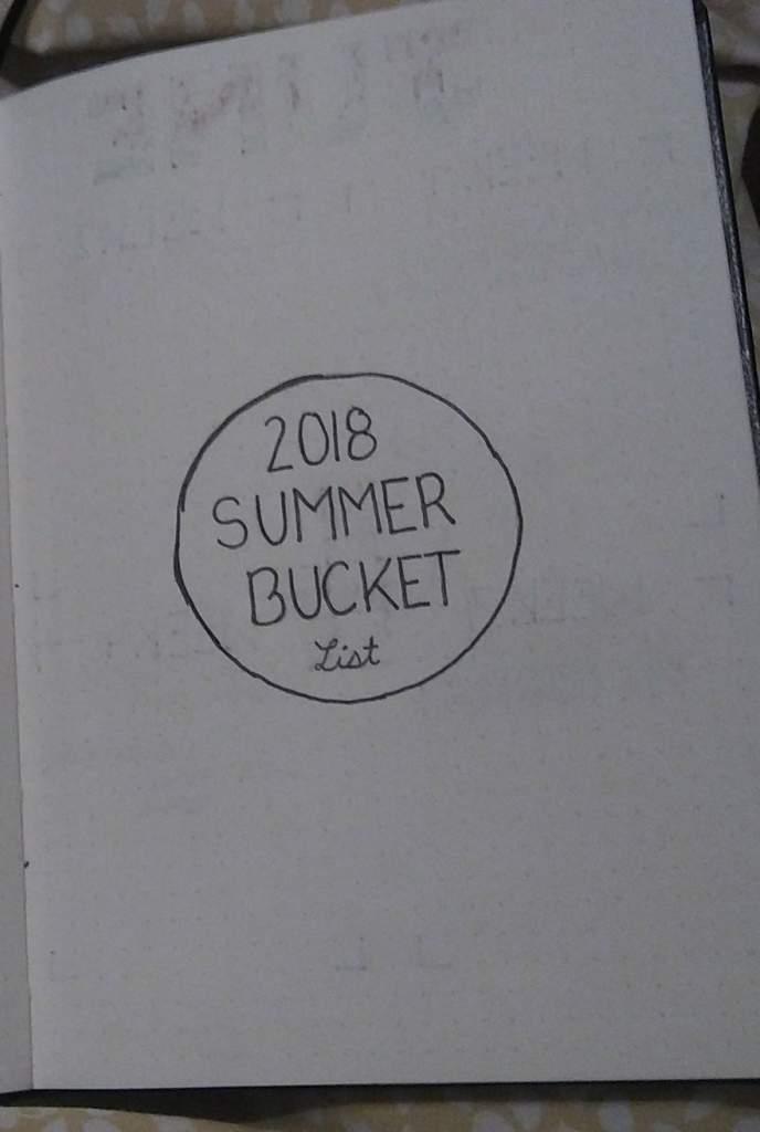 Comment Please Summer Bucket List Bullet Journal Amino