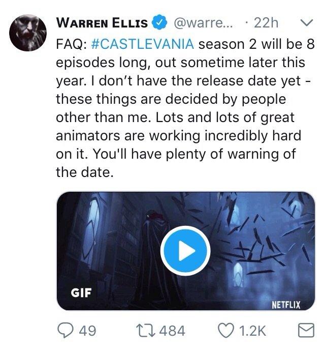 92  New Telly News!   Castlevania Netflix Original   Season 2