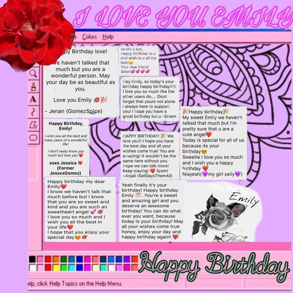 Happy Birthday Emily Selenators Amino
