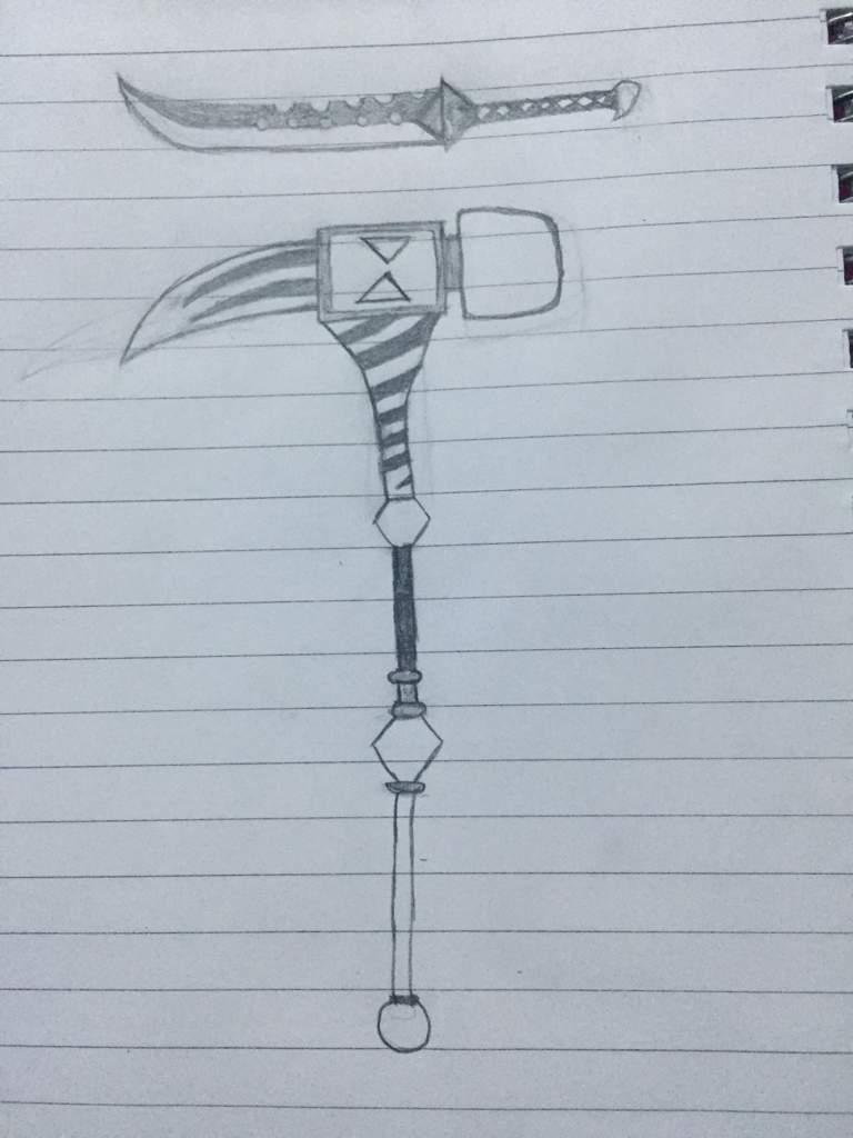 رسمات لبعض اسلحة الخطايا السبع المميته امبراطورية الأنمي Amino