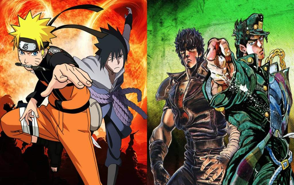 naruto and sasuke vs kenshiro and jotaro kujo battle arena amino amino