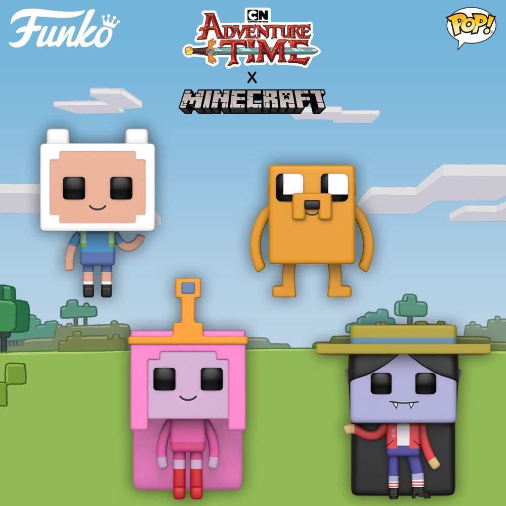Adventure Time X Minecraft Pops Funko Amino