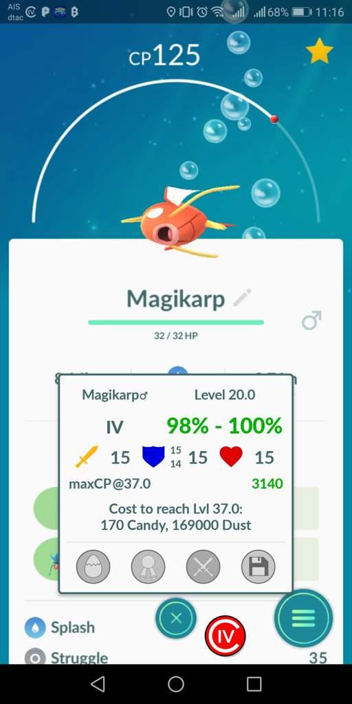 Magikarp 100% IV | Pokemon GO Amino