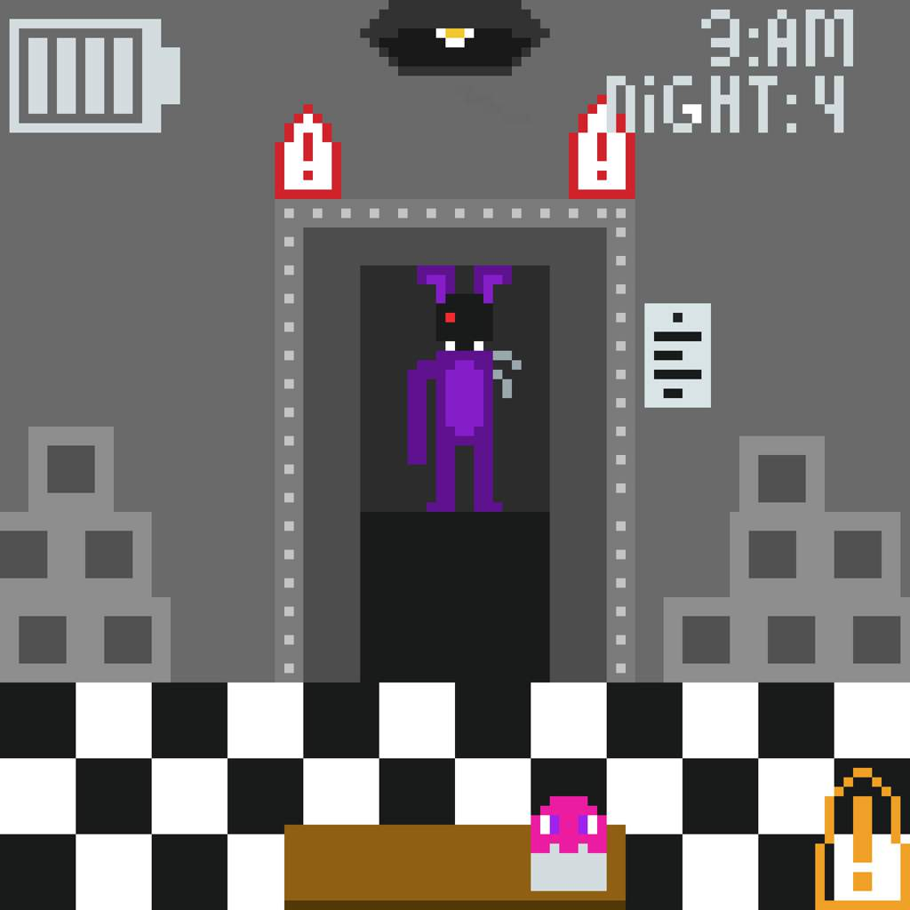 FNAF 2 office (pixel art) | Five Nights At Freddy's Amino