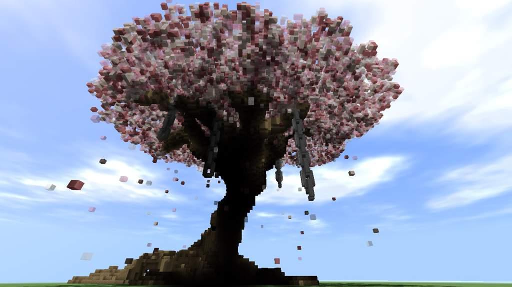 Giant Sakura Tree Build 🌸 Minecraft Amino