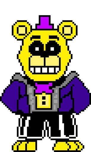 Image: FNaFtale FredBear Genocide Colour again | Pixel Art Maker
