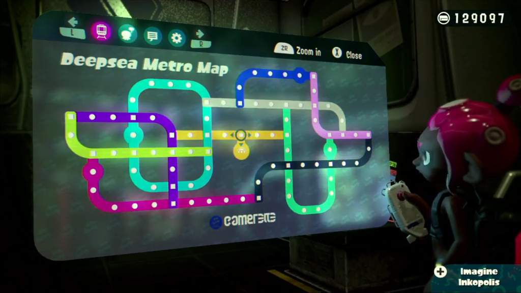 Splatoon 2 Subway Map.What S The Fastest Route To Navigate Around Deep Sea Metro And Get