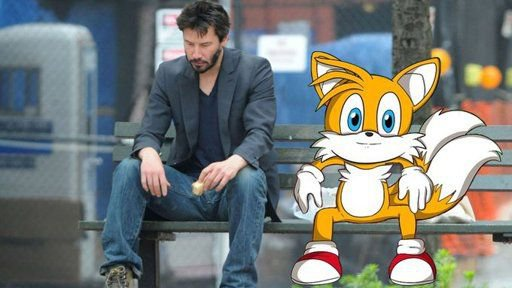 Tails sitting on a bench is my favorite meme | Sonic the