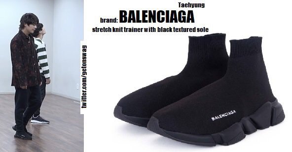 691c860654421 BALENCIAGA - Stretch knit trainer with black textured sole, approx. 750 usd