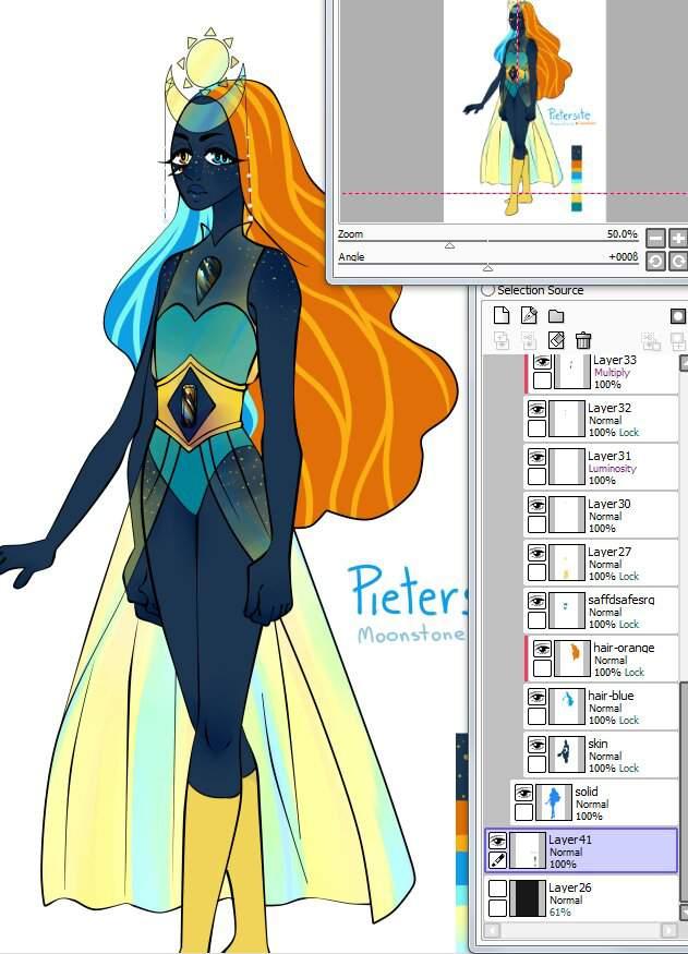 Sunstone And Moonstone Fusion Speedpaint Steven Universe Amino