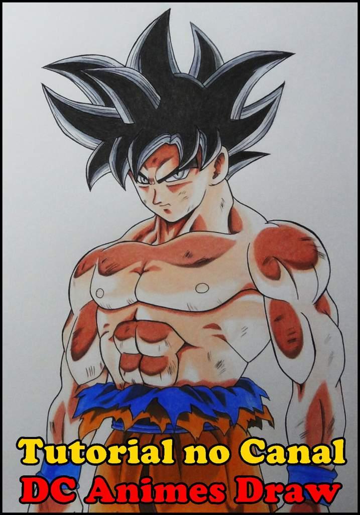 Desenho Do Goku Tutorial No Canal Dc Animes Draw Marte Amino