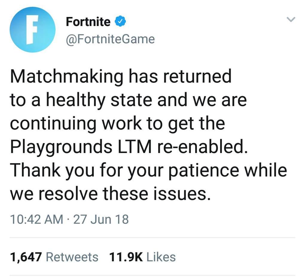 Fortnite Server Statis