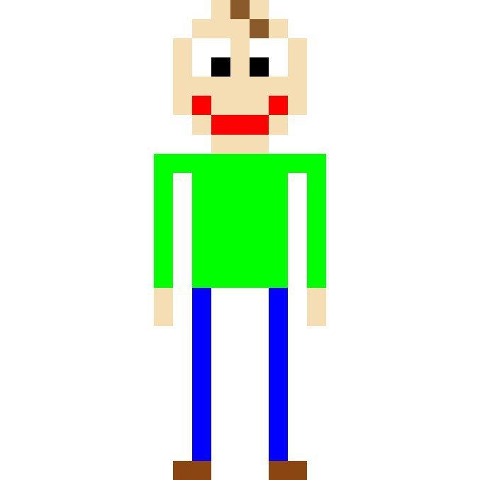baldi pixel art baldi s basics amino
