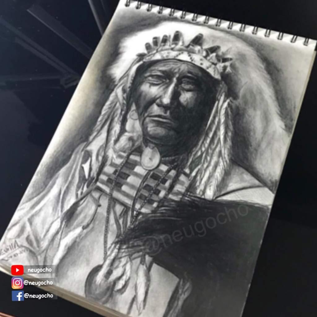 Indio Americano A Lápiz Arte Amino Amino