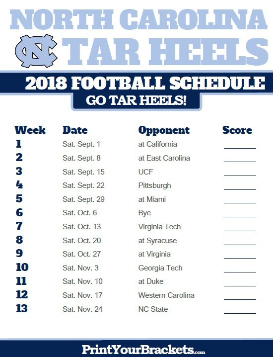 Unc 2018 19 Football Schedule Predictions Gridiron Amino