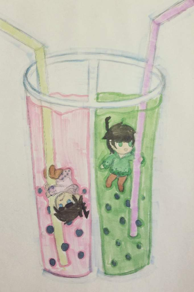 Strawberry And Green Tea Boba Boys Eddsworld Amino