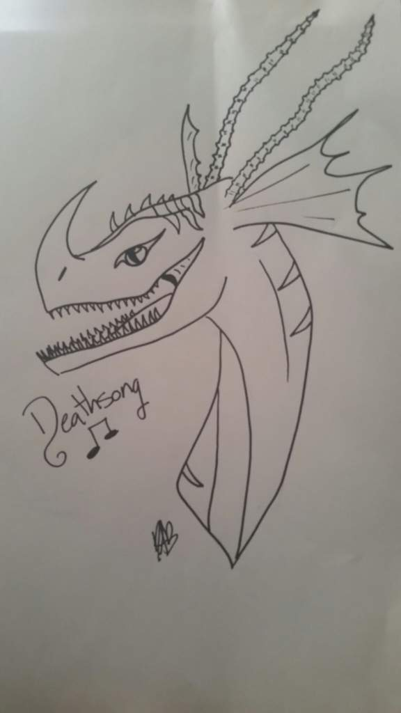 Deathsong Drawing H T T Y D Amino