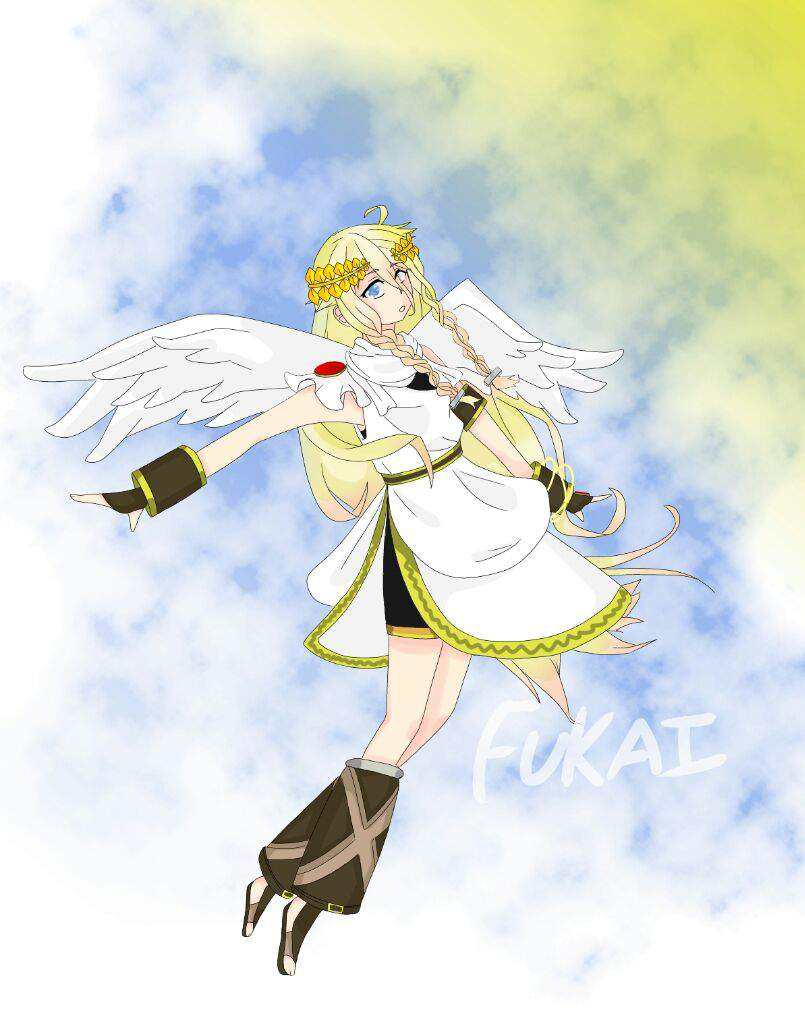 Kid Icarus Because Idk They Are Both Cute Boys And Remind Me Of Len A Little IA Is Perfectly Suited To Be Pit The Way She Floats In Her