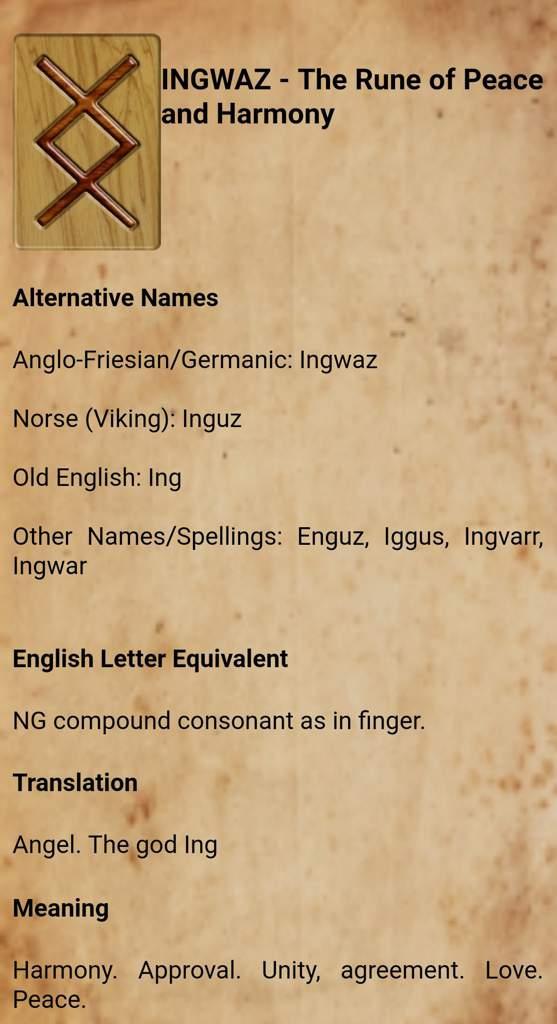 Inguz Meaning