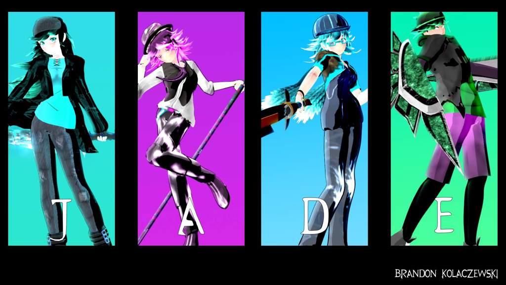 RWBY OC) JADE Model Updates, Poster, and Weapons | RWBY Amino