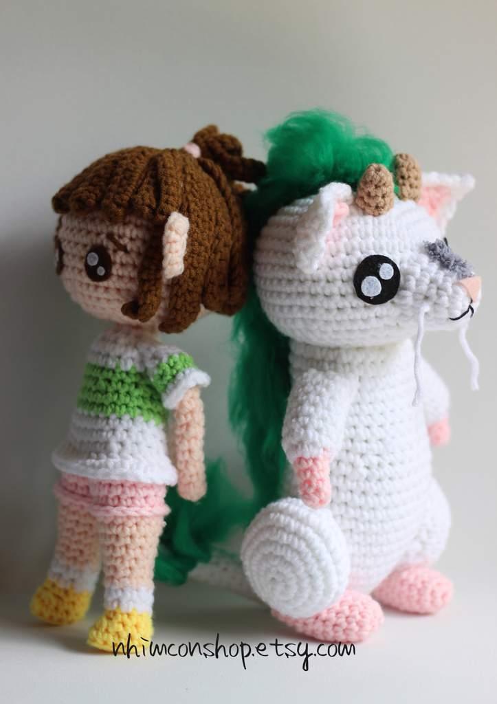 Haku Dragon And Chihiro Chibi Crochet Plush Crafty Amino