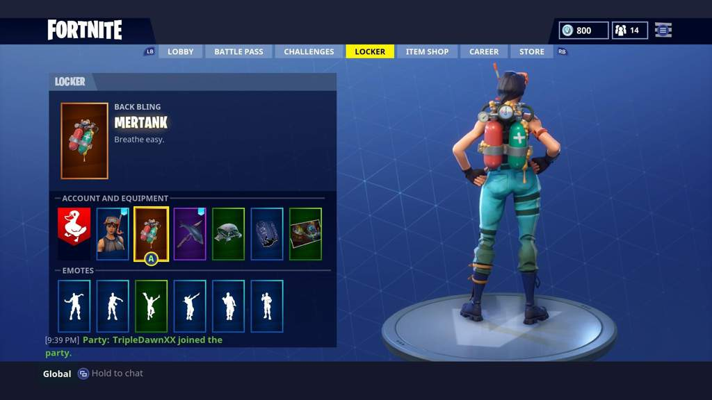 i think everyone could agree with me that the mertank back bling looks really good with snorkel ops its a tank going on the back of a skin that looks like - good fortnite skins