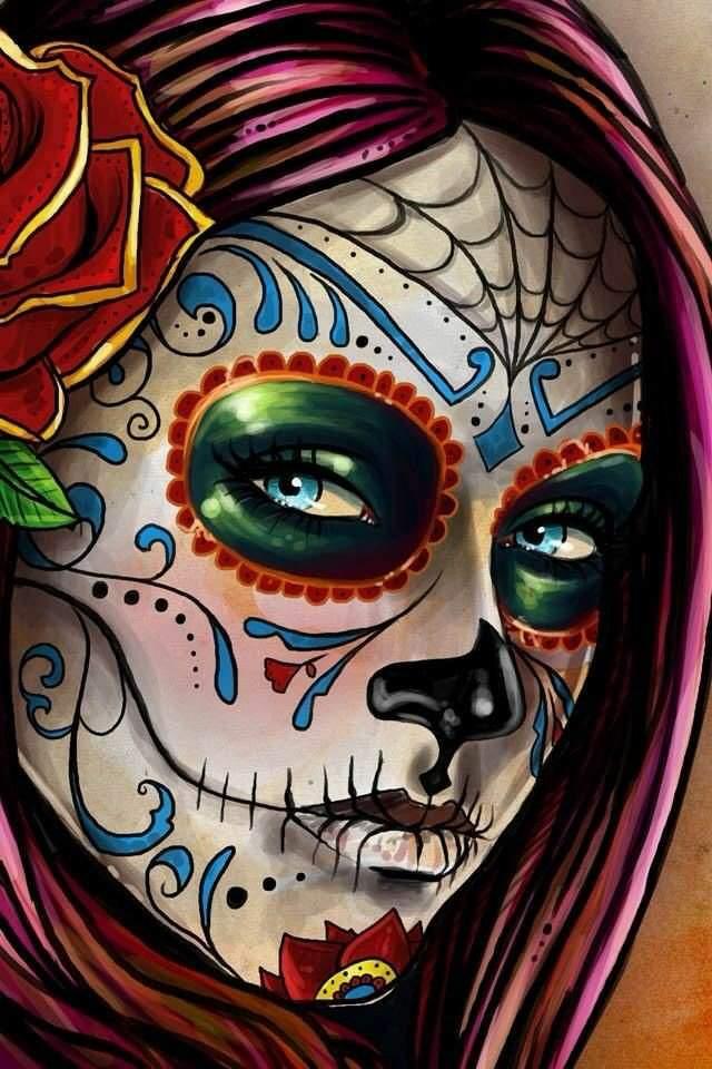 Desafio Semanal Caveira Mexicana Desenhos Amino