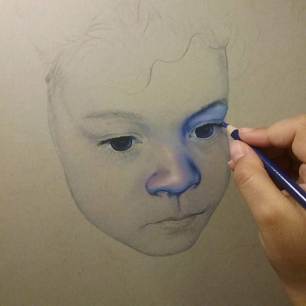 Wip 1 colored pencil drawing art amino