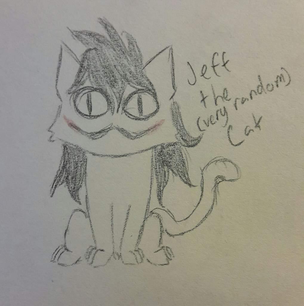 Very Random Jeff Cat Drawing Creepypasta Amino