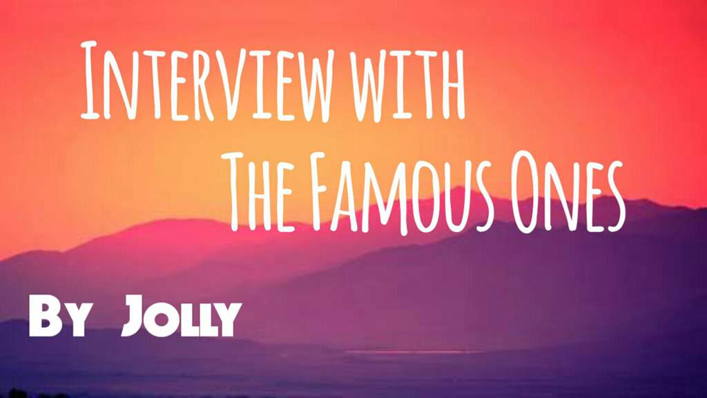 Promo The Interview With The Famous Ones Roblox Amino