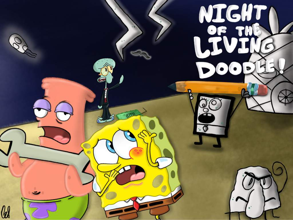 Night of the living doodle challenge entry spongebob squarepants