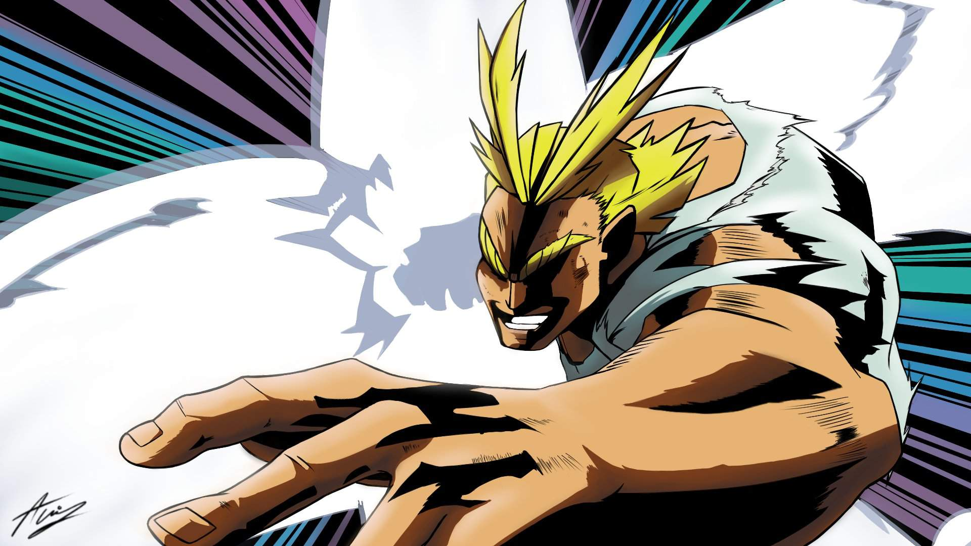 Drawing All Might Plus Ultra My Hero Academia