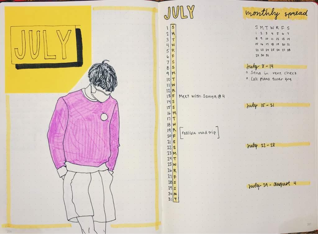 July's Spread + Poems   Studying Amino Amino